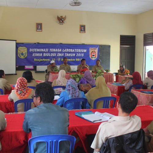 SMAGA Gelar Desiminasi Kimia-Biologi se Kota Banjarbaru
