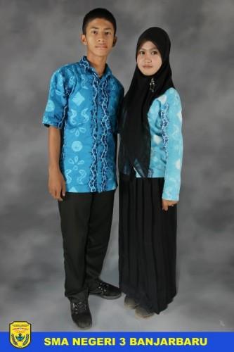 Pakaia Seragam Batik Sasirangan untuk hari Kamis