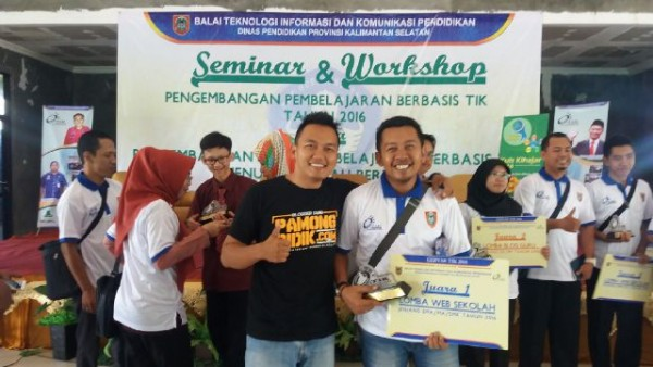Akhirnya menjadi pemenang di Lomba Web Sekolah Gebyar TIK 2016 se Kalimantan Selatan