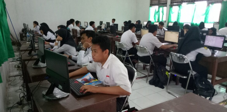 TryOut UN Kota Banjarbaru memakai sistem CBT